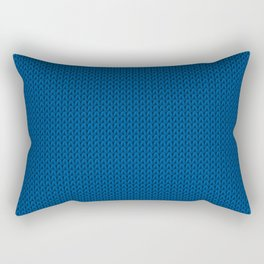 Knitted spring colors - Pantone Lapis Blue Rectangular Pillow