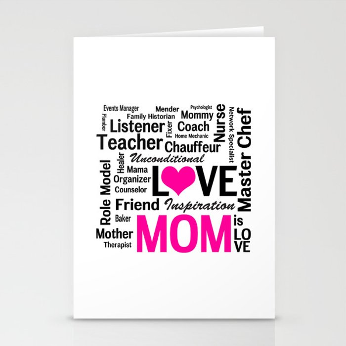 Amazing Do-it-All Mom Stationery Cards