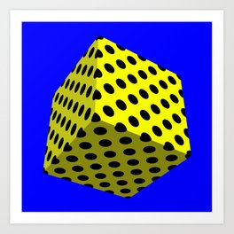All Boxed Up Series - 3D Art Yellow & Blue Art Print