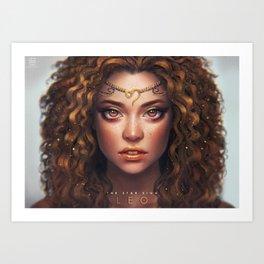 Leo - The Star Sign Art Print