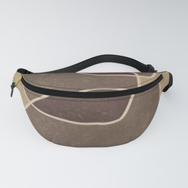 Abstract Composition In Brown And Tan - Modern, Minimal, Contemporary Print - Earthy Abstract 3 Fanny Pack