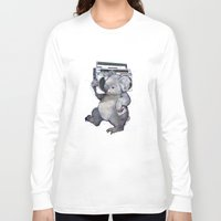 koala Long Sleeve T-shirts featuring koala  by Laura Graves