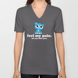 Pouting Pup | Feel My Pain Unisex V-Neck