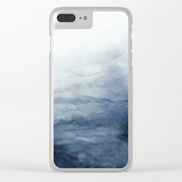 Indigo Abstract Painting | No.2 Clear iPhone Case