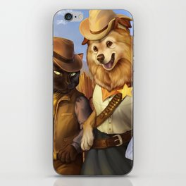 Cowboy Cats and Deputy Dog ~! iPhone Skin