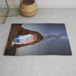 Milky Way Night sky in Moab Arches National Park Starry Night Pointer Utah USA for #Society6 Rug