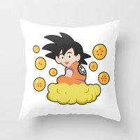 goku Throw Pillows featuring Goku by CmOrigins
