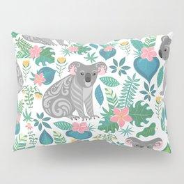 Floral Koala Pillow Sham