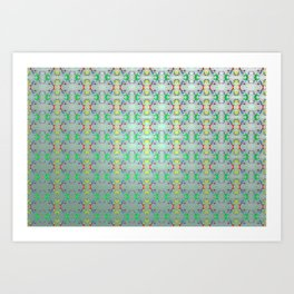 Softly colorful classic pattern ... Art Print