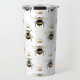 Gold Queen bee / girl power bumble bee pattern Travel Mug