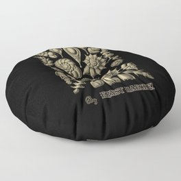 """Thalamorpha"" from ""Art Forms of Nature"" by Ernst Haeckel Floor Pillow"