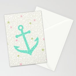 Starfish Anchors - Pearl Stationery Cards