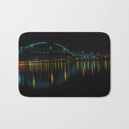 Bridge at night, Belgrade, Serbia Bath Mat