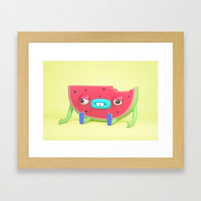 Watermelon dude Framed Art Print