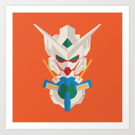 gundam exia flat design Art Print