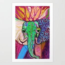 Elephant of Power Art Print