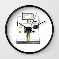 polaroid Wall Clocks featuring Polaroid by Mariam Tronchoni