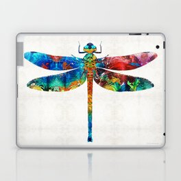 Colorful Dragonfly Art By Sharon Cummings Laptop & iPad Skin