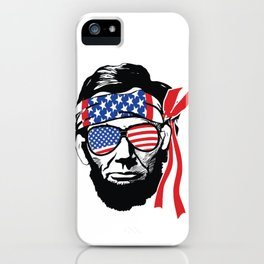 Abraham Lincoln American Flag Bandana iPhone Case