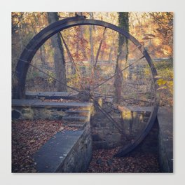 Water wheel (in late fall) Canvas Print