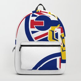 British Mechanic Union Jack Flag Icon Backpack