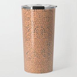 Coffee Latte Cheetah Cat Animal Print Pattern Travel Mug