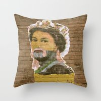 jenny liz rome Throw Pillows featuring Liz by Teresa Gabry