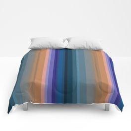 Multi-colored striped pattern 2 Comforters