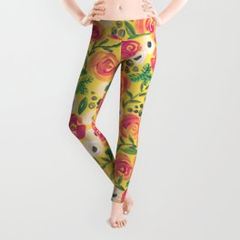 Minnie (Painted Flower Pattern) Leggings