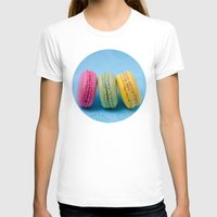 macaron T-shirts featuring Macaron Series - Blue by Zayda Barros