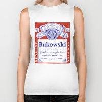 bukowski Biker Tanks featuring bukowski by Mathiole