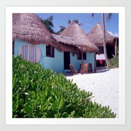 Tulum Cabanas Art Print