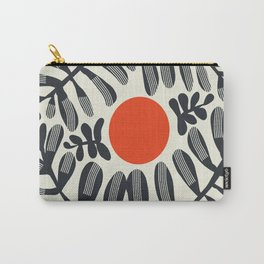Black plant and red sun Carry-All Pouch