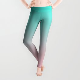 Turquoise and Pink Ombre Leggings