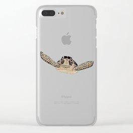 tortue marine Clear iPhone Case