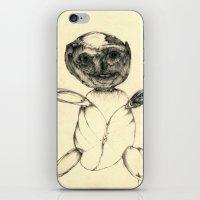teddy bear iPhone & iPod Skins featuring Teddy bear by Attila Hegedus