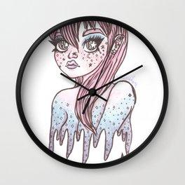Galaxy Sparkle Stars Girl Wall Clock