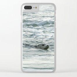 Harbor Seal, No. 2 Clear iPhone Case