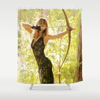 archer Shower Curtains featuring The Fairy Archer by Karma Tales