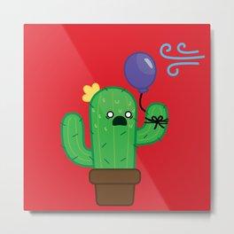 Cactus - Panicked Metal Print