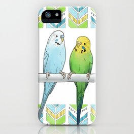 Row of Budgies iPhone Case