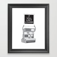 Take A Picture Framed Art Print