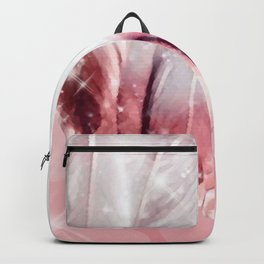 Feathers, Rose Gold Dipped Backpack