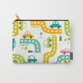 Cars, cars, cars! Watch out! Busy life in the city. Wall decor. Nursery abstract art.  Carry-All Pouch