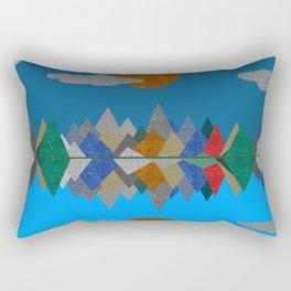 Over The Fabric Hills And Far Away Rectangular Pillow