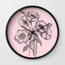 Palid Flowers  Wall Clock