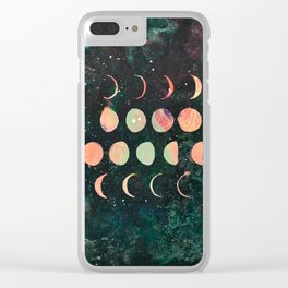 Moon Phases - Lunar Phases - Hipster Moon Phases Clear iPhone Case