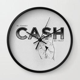 In Johnny Cash We Trust. Wall Clock