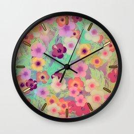 Hibiscus (The Rabbit Hole) Wall Clock