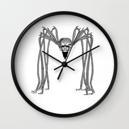 spider . black and white . art Wall Clock